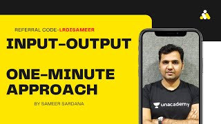 Input-Output-Tricks To Solve Questions Under One Minute
