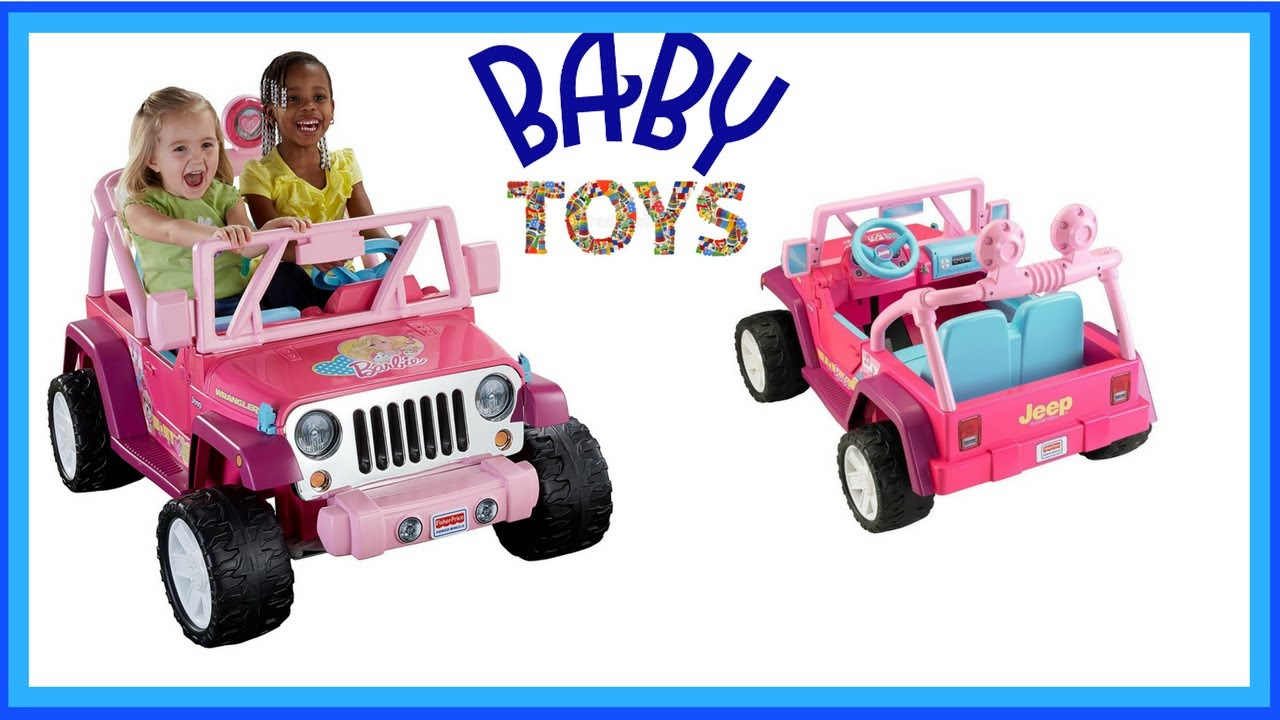 Power Wheels Barbie Jammin Jeep Wrangler From Baby Toys Youtube