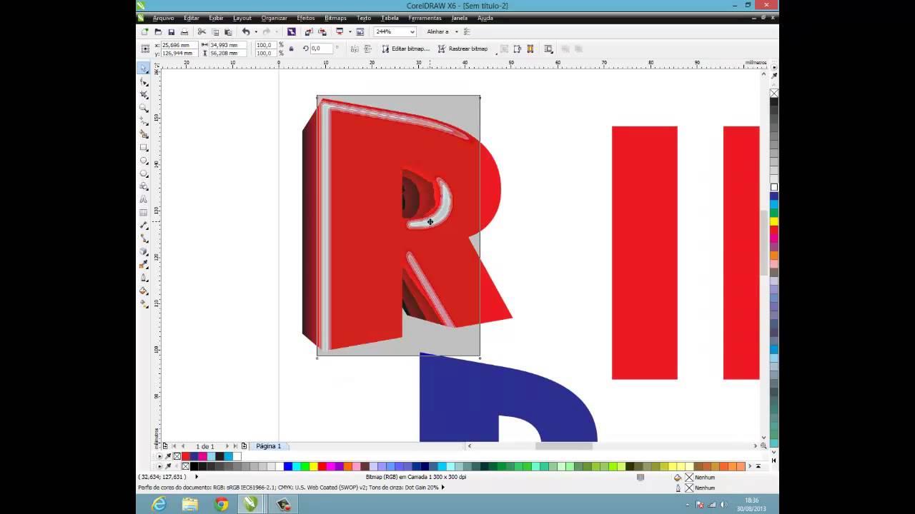 como criar letras 3d no corel draw hd youtube. Black Bedroom Furniture Sets. Home Design Ideas