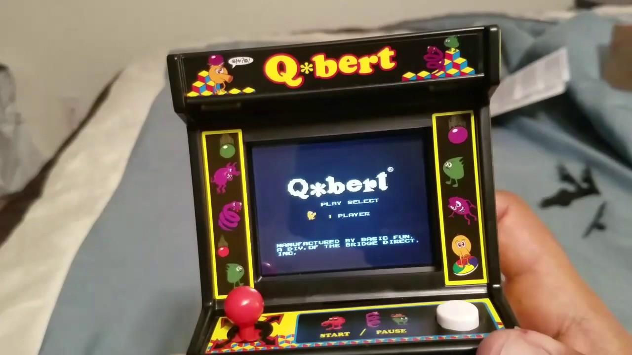 Arcade Classics Qbert review and teardown - YouTube