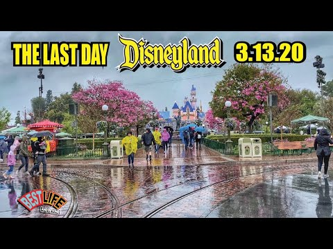 The Last Day Before Closing At Disneyland For Coronavirus Precaution