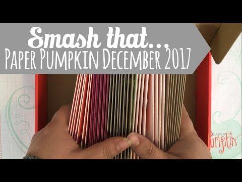 Smash that Paper Pumpkin! December 2017 Flora and Flutter by Stampin' Up!