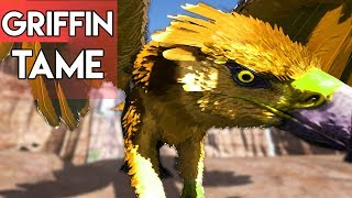 HOW TO TAME A GRIFFIN ON RAGNAROK - EASY METHOD! | Ark Survival Evolved: Lover Invades | E9