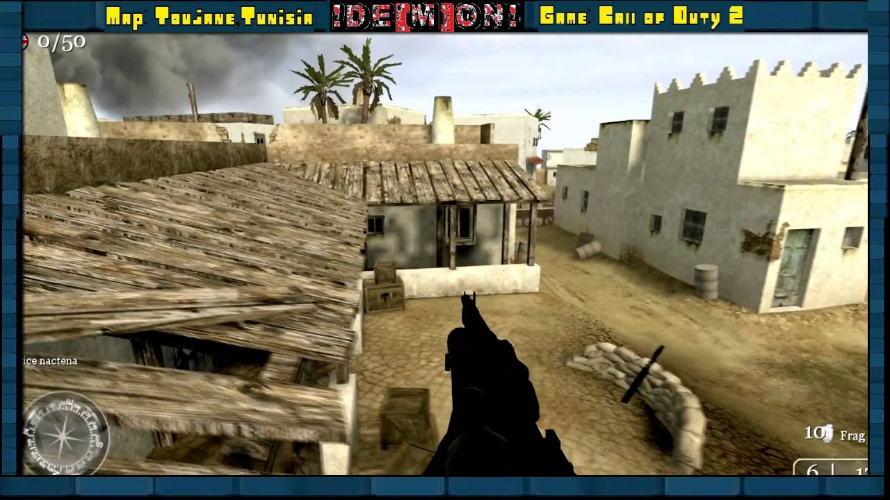 call of duty 2 jumps  classic map  toujane tunisia  hd