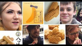 外国人がご当地お菓子を食べてみたinイギリス British people try Japanese regional sweets