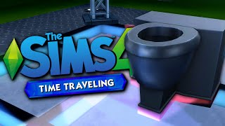 TIME TRAVELING TOILET - The Sims 4 Funny Highlights #74