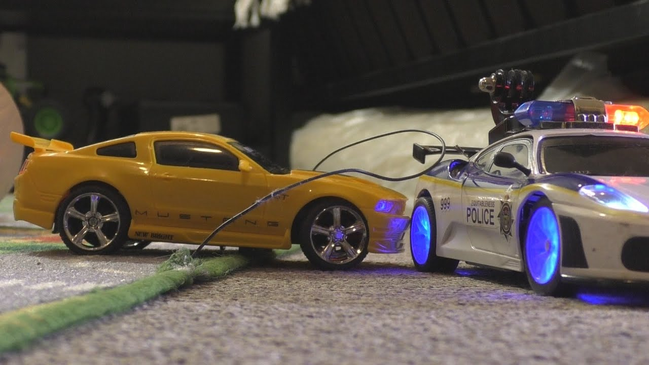 RC POLICE CAR CHASE VS Ford Mustang TOY CARS FUN YouTube - Cool fun cars