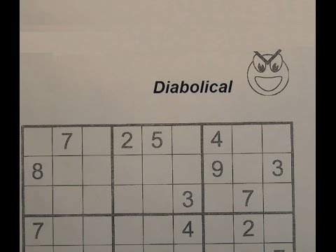 Solve Diabolical Sudoku Puzzles - Very Hard