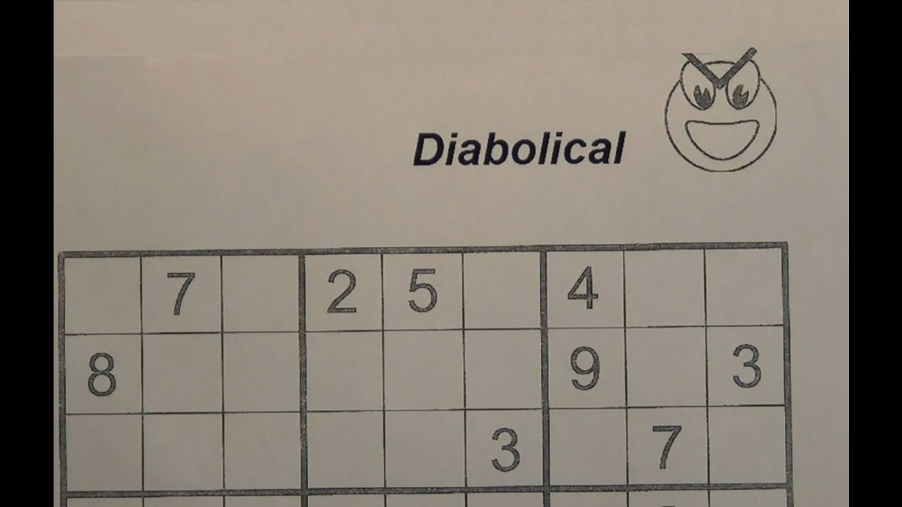 picture about Difficult Sudoku Printable known as Resolve Diabolical Sudoku Puzzles - Incredibly Challenging