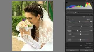 Пример обработки свадебной фотографии в Lightroom 4
