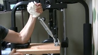 Arm wrestling training machine.