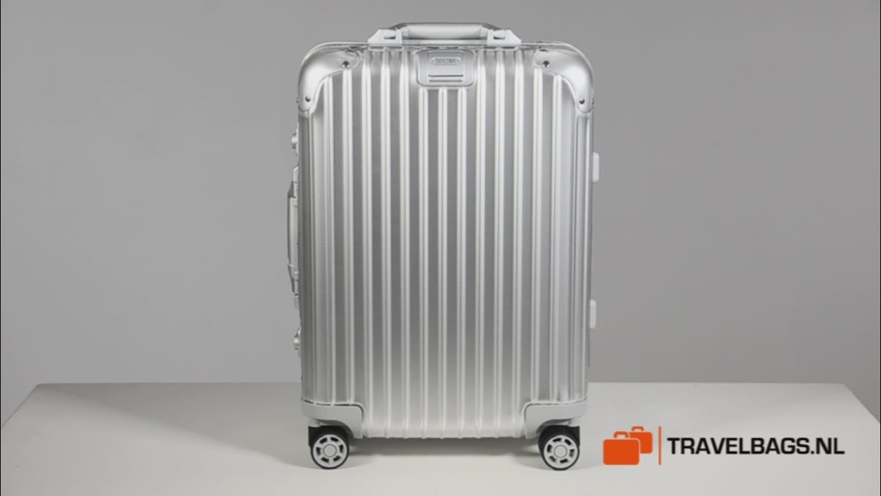 rimowa topas cabin multiwheel iata 55 youtube. Black Bedroom Furniture Sets. Home Design Ideas