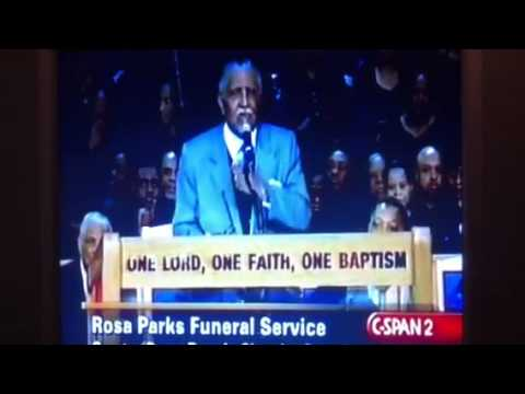 Rosa Parks funeral/ Dr.Joe Lowery