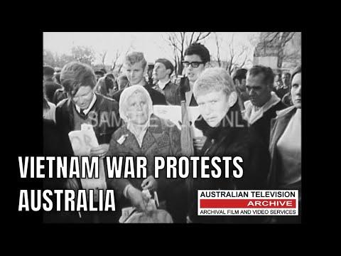 VIETNAM WAR PROTESTS - MELBOURNE AUSTRALIA