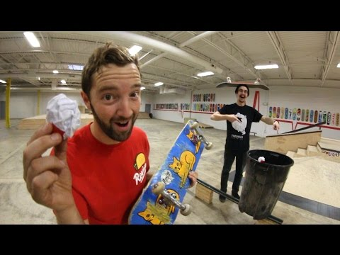 ULTIMATE PAPER TOSS TRICK SHOTS 2!