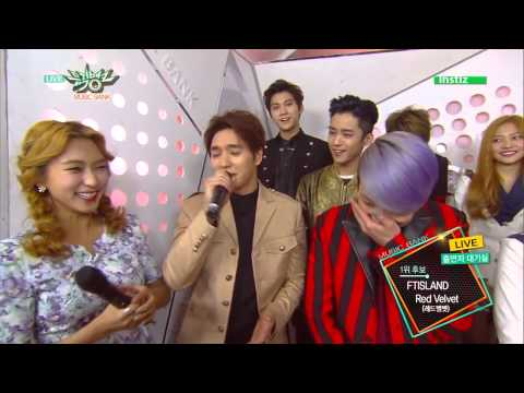 150403 FTISLAND FT아일랜드 & Red Velvet 레드벨벳   Backstage Interview @ Music Bank
