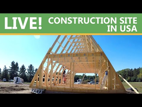 A-frame kit building in Minnesota