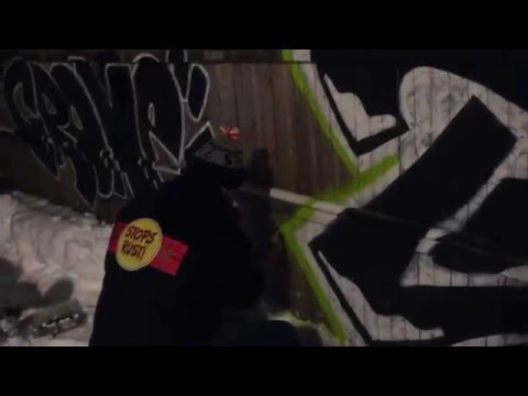 Tone & Crone Graffiti Pieces in the Blizzard 2016  Featuring *FRESH PAINT* Spray paint