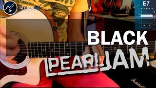 "Cómo tocar ""Black"" de Pearl Jam en Guitarra Acústica (HD) Tutorial - Christianvib"