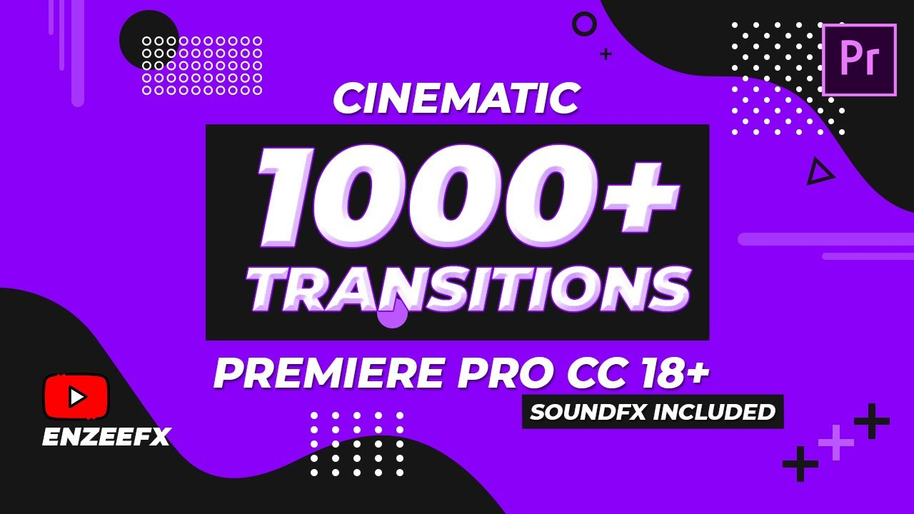 1000+ Cinematic Transitions Pack for Premiere Pro 18 and Above - SFX included - Free Download
