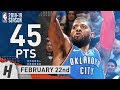 Paul George EPIC Full Highlights Thunder vs Jazz 2019.02.22 - 45 Pts, 9 Reb, 7 Ast, GAME-WINNER!