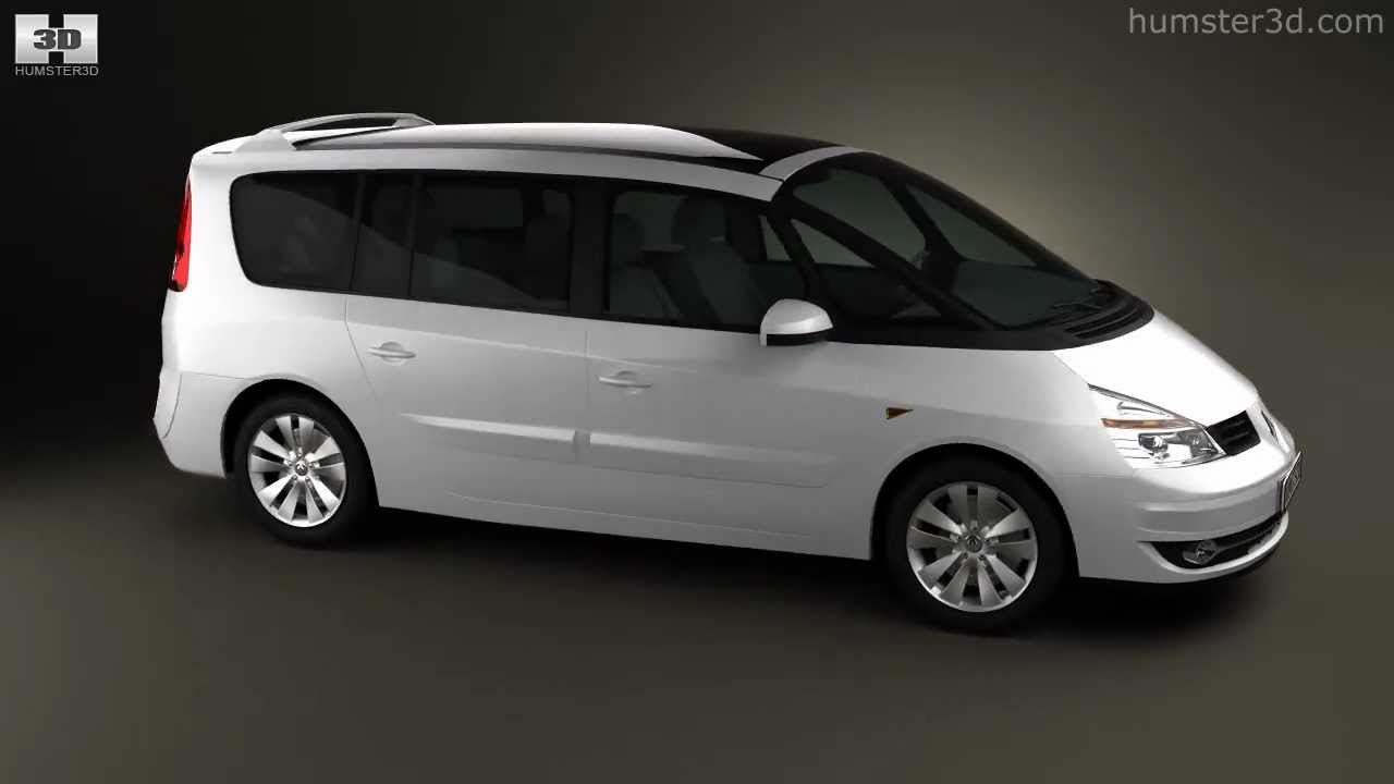renault grand espace 2011 by 3d model store youtube. Black Bedroom Furniture Sets. Home Design Ideas