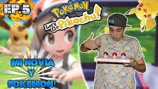 🤣MI NOVIA CAPTURA A SU PRIMER POKÉMON!🤣 - Pokémon Let's GO Pikachu