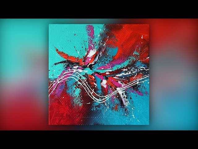 Abstract Painting Techniques / Colorful / Acrylics / Palette Knife / Demo #035