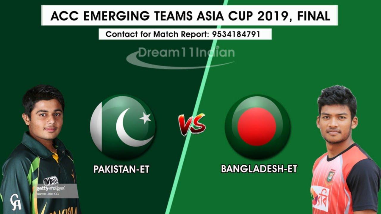 Pak vs BAN U23 ACC  CC Asia Emerging Cup Final Live Steaming - Replay