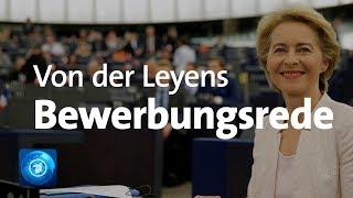 Vor der Abstimmung: Ursula von der Leyen spricht im EU-Parlament