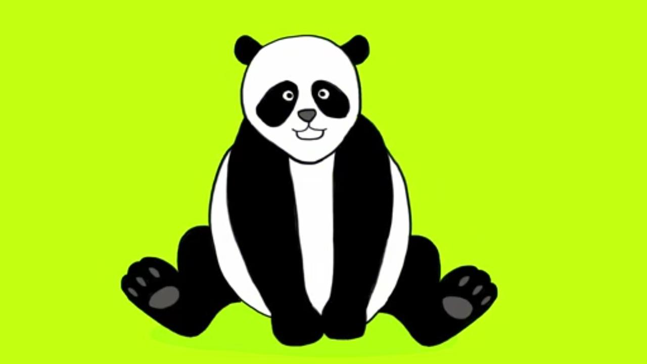 Fabuleux Apprends à dessiner un panda en 3 étapes ! - YouTube PJ88