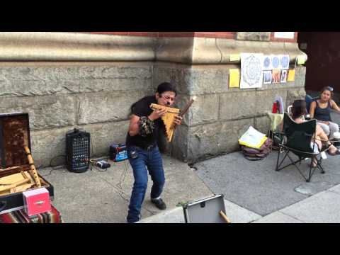 Hamilton Art Crawl 2015 - James Street North - Peruvian Pan Flute Music - Hamilton, Ontario, Canada