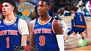 LAMELO BALL DRAFTED TO KNICKS! New York Knicks Rebuild- NBA 2k20 MyLeague Ep.1