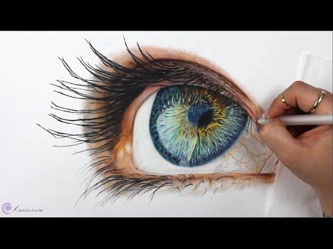 TIMELAPSE - Drawing a Realistic Eye - Channel Sheldene Fine Art