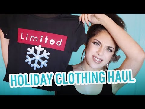 BABY ARIEL HOLIDAY CLOTHING HAUL!!!!