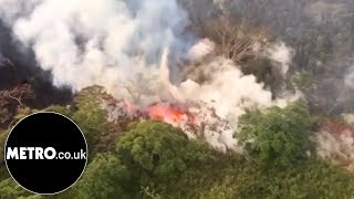 Fissures shoot lava and steam from ground of Kilauea Volcano | Metro.co.uk thumbnail
