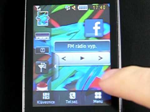 Samsung B3410 - prostředí TouchWiz