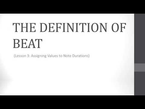 Music Theory Lesson 3.1 - The Definition of Beat