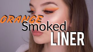 MEIN LOOK AUS HATICE SCHMIDTS VIDEO l Orange Smoked Liner Tutorial l Merve Tkd