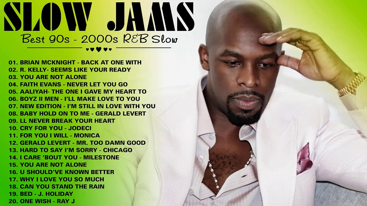 R&B SLOW JAMS LOVE SONGS ~ R. Kelly, Boyz II Men, Brian McKnight, New Edition, Monica, Aaliyah