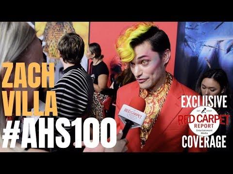 Zach Villa interviewed at FX Network's American Horror Story 100 Episodes Red Carpet #AHSFX