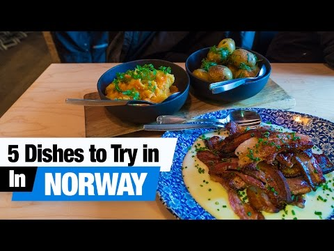 Norwegian Food Tour - 5 Dishes to Try in Oslo, Norway! (Americans Try Norwegian Food)
