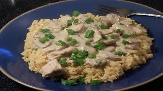 Pork And Mushrooms In Italian Herb Cream Sauce - E105