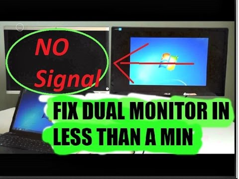 NO SIGNAL | How to Fix Dual Monitor problem in less than 1 Min!!!!!