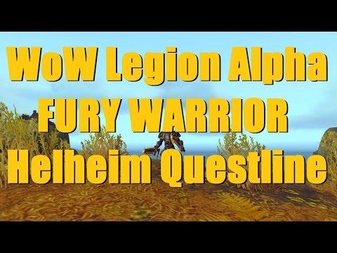 Bajheera - Legion Fury Warrior HELHEIM Questline - WoW Legion Alpha Gameplay