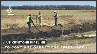 Two weeks after the keystone pipeline which carries canadian oil to refineries in us sprung a huge leak, company says it is doing all can avoid...