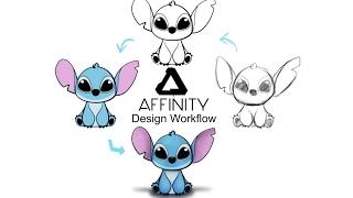 Affinity Designer Workflow. Combining Vector and Pixel.