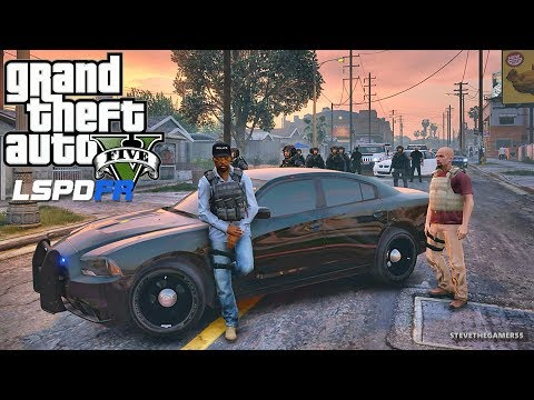 GTA 5 MODS LSPDFR 850 - GROVE ST LOCKDOWN!!! (GTA 5 REAL LIFE PC MOD)