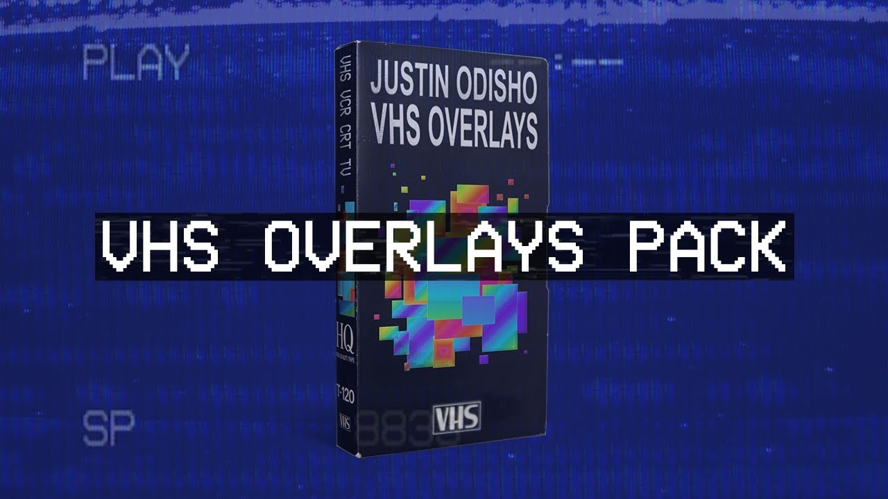 Justin Odisho VHS / VCR / TV Glitch Footage Overlays Pack