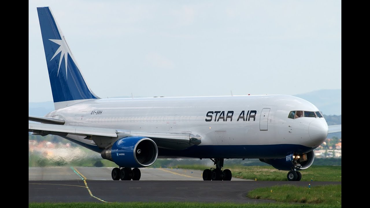 Maersk Star Air Boeing 767-20F OY-SRH New Colors departing